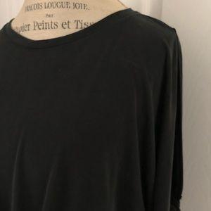 She & Sky brand women's twist front tie sleeve top